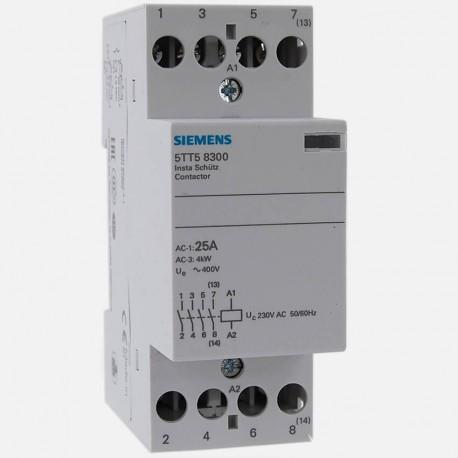 Contacteur modulaire 5TT58300 25A tétrapolaires Siemens