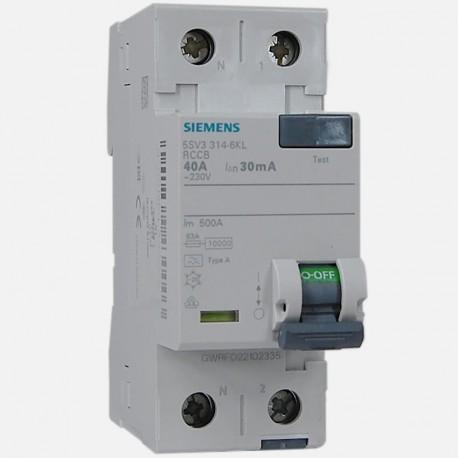Interrupteur différentiel 5SV3314-6KL 40A-30ma type A Siemens