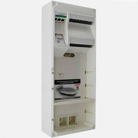 Coffret de communication Michaud Q241 Multibox grade 3 - 8 RJ45 + ampli TV