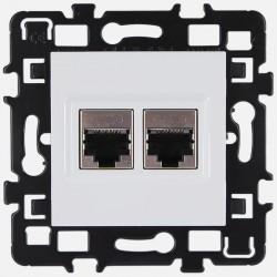 Prise double RJ45 cat 6 STP grade 3, 61873 Eur'ohm