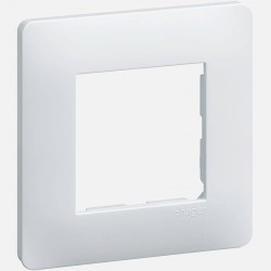 Essensya plaque 1 poste WE401 blanc Hager
