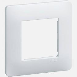 Essensya plaque 1 poste WE401 blanc Hager