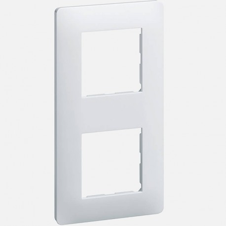Essensya plaque 2 poste WE402 blanc Hager