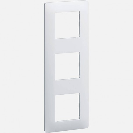 Essensya plaque 3 postes WE403 blanc Hager