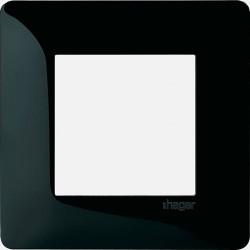 Essensya plaque 1 poste WE401N noir Hager