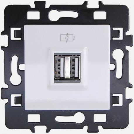 Prise chargeur USB 61829 Eur'ohm série Esprit