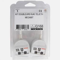 Doubleurs RJ45 téléphone éthernet Q168 Michaud