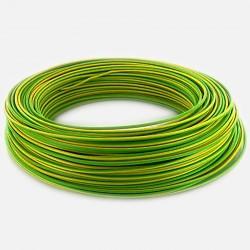 Fil rigide 1.5 mm² vert jaune H07VU