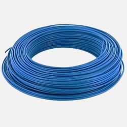 Fil rigide 2.5 mm² bleu H07VU
