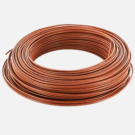 Fil rigide brun 1.5 mm² H07VU