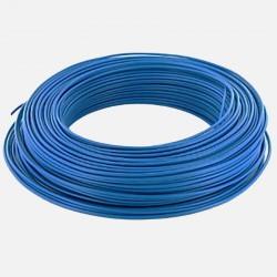 Fil rigide 6 mm² bleu H07VR en couronne de 100 mètres