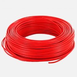 Fil rigide 6 mm² rouge H07VR au mètre