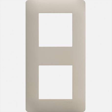 Essensya plaque 2 postes WE432 Sisal Hager