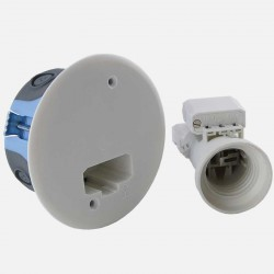 lot de 10 boîtes d'applique DCL XL air'métic Ø67 mm avec fiche et douille DCL E27