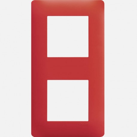 WE472 Essensya plaque Rouge émail 2 postes