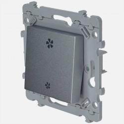 Essensya interrupteur va et vient VMC Titane WE048T Hager