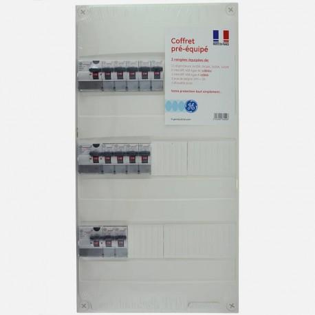 Tableau électrique pré-câblé 3 rangées
