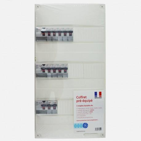 Tableau électrique 3 rangées avec 2 pc modulaire