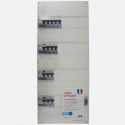 Tableau électrique 4 rangées avec 2 prises modulaires