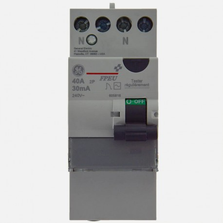interrupteur diff rentiel 40a type ac general electric. Black Bedroom Furniture Sets. Home Design Ideas