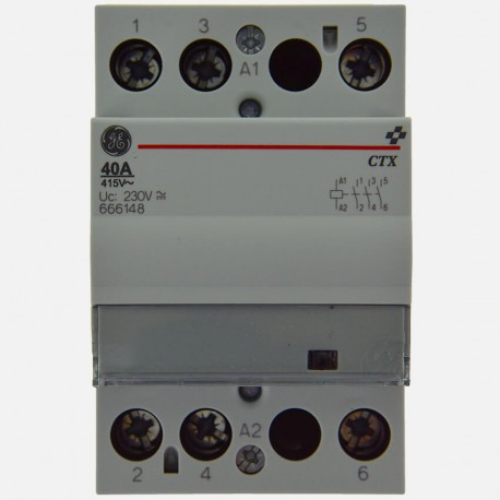 Contacteur modulaire 666148 40A tripolaire General Electric