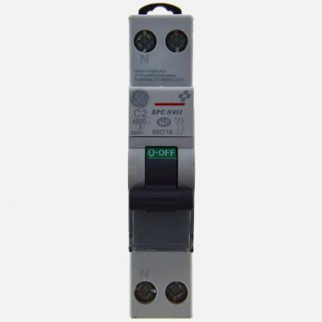 692718 Disjoncteur phase neutre 2A General Electric