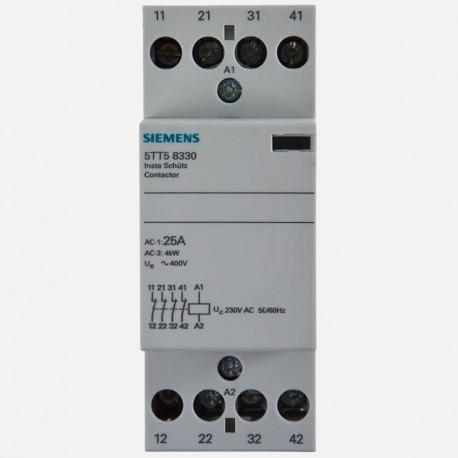 Contacteur modulaire 4 poles nf 25A Siemens