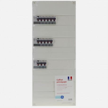 Tableau électrique 4 rangées précablé