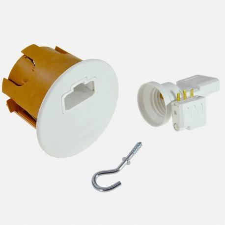 Boite de centre DCL avec douille DCL E27 et fiche DCL - SIB