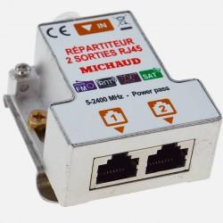 LB023 Répartiteur TV coaxial RJ45 2 sorties