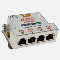 LB024 Répartiteur TV coaxial-RJ45 4 sorties