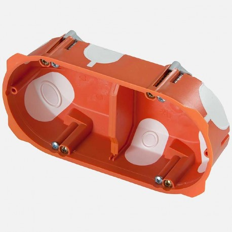 Boite placo double poste capritherm D67 mm profondeur 40 mm Eaton