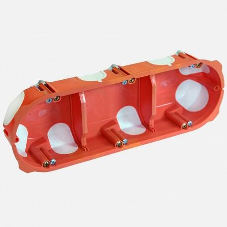 Boite placo triple poste capritherm D67 mm profondeur 40 mm Eaton