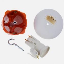Boite de centre D67 mm DCL BBC avec douille DCL E27 et fiche DCL - Capritherm