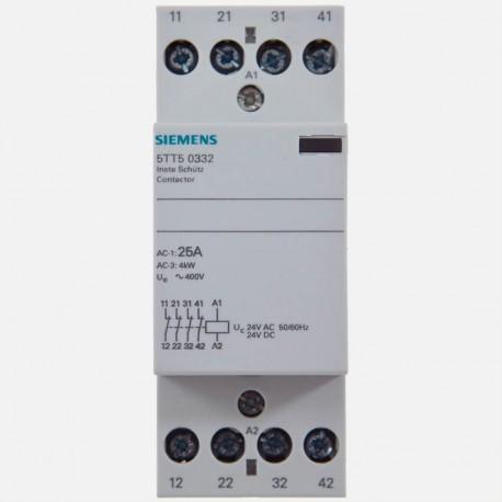 Contacteur modulaire 25A 4 NC 24 volts Siemens