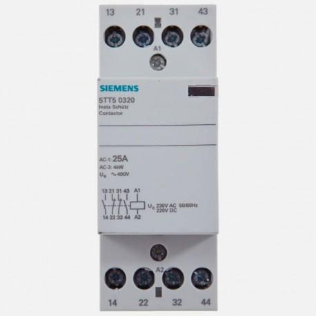 Contacteur modulaire 25A 2 NO 2 NC 230 volts Siemens 5TT5032-0