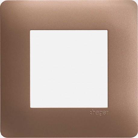 Essensya Bronze plaque 1 poste WE461 Hager