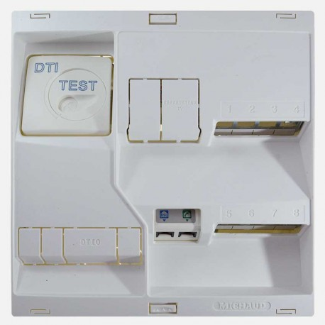 LB118 Coffret de communication Néo grade 1 - 8 RJ45 - TV coax Michaud