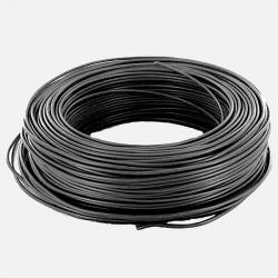 Fil rigide 1.5 mm² noir H07VU 25 mètres