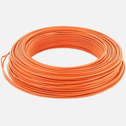 Fil rigide 1.5 mm² orange H07VU 25 mètres