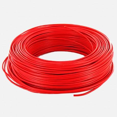 Fil rigide 2.5 mm² rouge H07VU 25 mètres