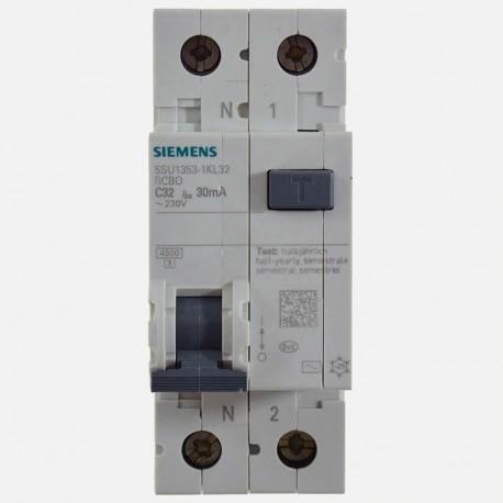 Disjoncteur différentiel 32A 30 ma Siemens 5SU1 353-1KL32