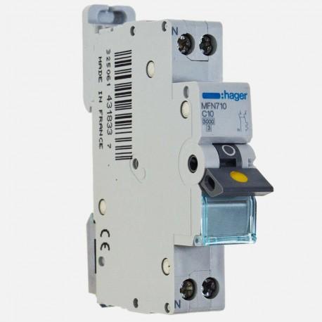 MFN720 Disjoncteur phase neutre 20A à vis Hager