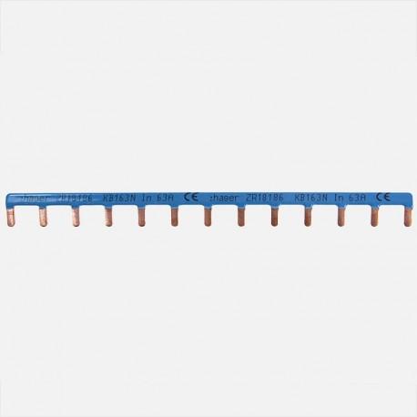 Barrette de pontage neutre 13 modules Hager KB163N