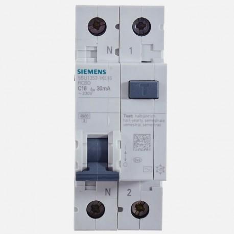 Disjoncteur différentiel 16A 30 ma Siemens 5SU1 353-1KL16