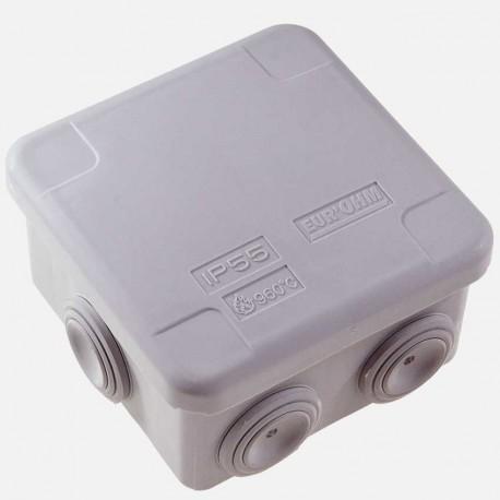 Boîte de dérivation étanche 80x80 mm IP55 Eur'ohm
