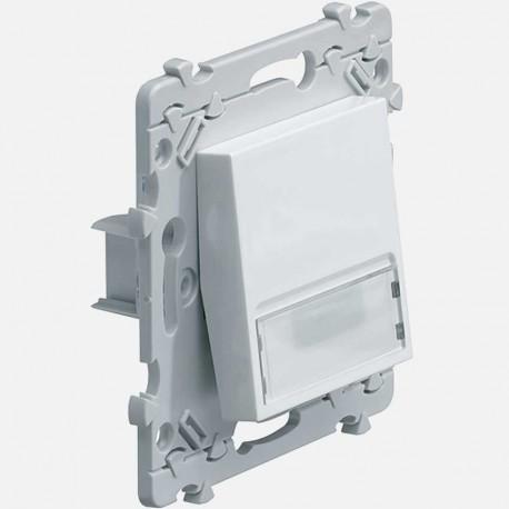 Essensya poussoir porte-étiquette blanc 1O+1F WE025 Hager
