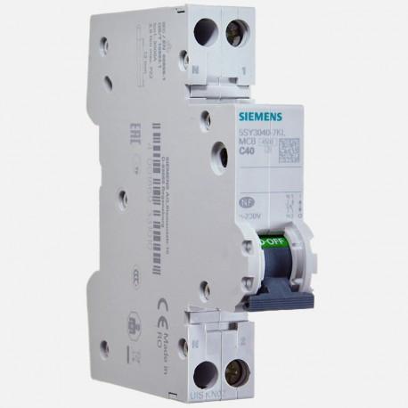 Disjoncteur PH+N 40 ampères Siemens