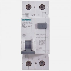 Disjoncteur différentiel 25A 30 ma Siemens 5SU1 353-1KL25