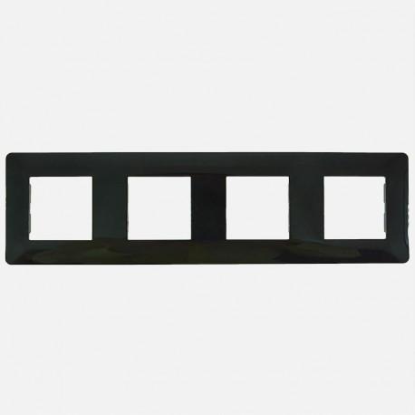 Essensya plaque 4 postes WE404N noir Hager